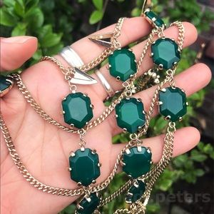 Kendra Scott Green Agate Valerie Necklace